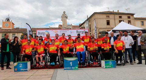 Gran éxito de Campeonato de España de Ciclismo Adaptado de Villadiego