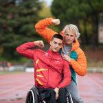 Juan Permuy promesa paralímpica española con Jesus Calleja